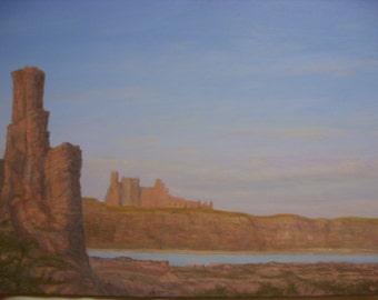 Tantallon Castle North Berwick ..Oil Painting..Scotland
