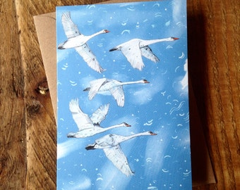Swans // Greeting Card