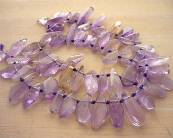 Simple cut ametrine shard beads 14-23mm 1/2 strand