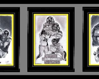 Pittsburgh Steelers ART- Hines Ward, Steelers Champions & Troy Polamalu