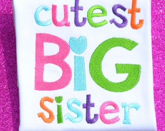 Cutest Big Sister Boutique Shirt SIze 2t Ready to Ship