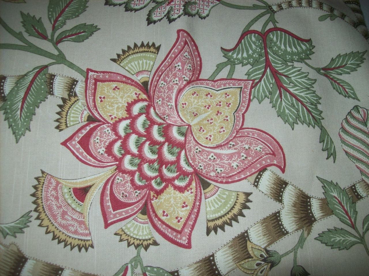 Floral Upholstery Fabric by the Yard for Home Decor