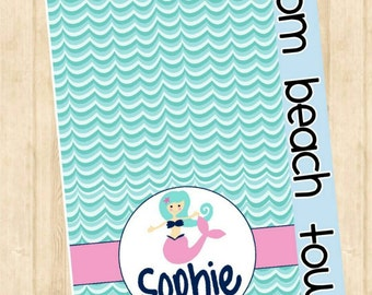 Personalized beach towel - lightweight