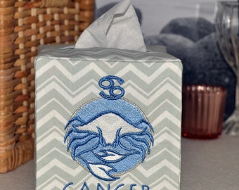 50% OFF!  Zodiac Signs Cancer Tissue Box Cover