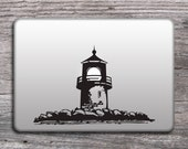Lighthouse vinyl sticker for laptop, Mac decals nautical design, MacBook stickers, Lighthouse decals - 132