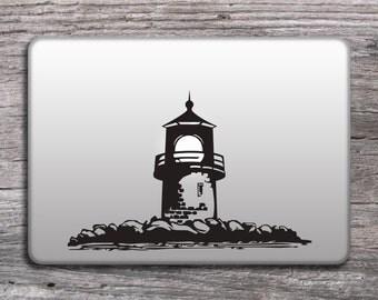 Lighthouse vinyl sticker for laptop, Mac decals nautical design, MacBook stickers, Lighthouse decals - 132