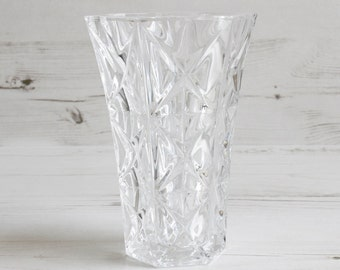 Vintage Glass Vase - Flower Small Glassware Decorative Houseware Clear