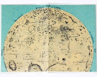 PASSPORT COVER - Moon Map.  Passport Holder, Passport Case, Travel Wallet, Map of the Moon, Travel Gift Idea, Graduation Gift, Wanderlust