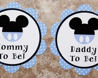 Mickey Mouse themed Button Pins- Customizable