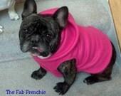 French Bulldog Hot Pink  Fleece Hoodie