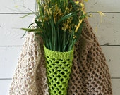Market Bags - Reusable Cotton Grocery Totes - Set of Three