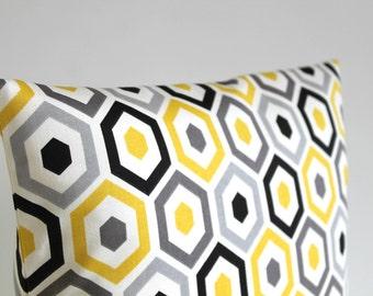 Decorative Pillows, Accent Pillow, Throw Pillow Cover, 20 Inch Toss Pillow Cover, 20x20 Pillowcase, Pillow Sham, Sham - Beehive sunshine