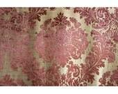 Burgundy Beauty Damask  Damask - Burnout Velvet on Fancy Fabric