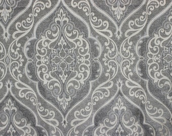 Grey Elegance Story Upholstery Fabric Curtain Fabric By the Yard Upholstery Fabric Curtain Panel Drapery Fabric Window Treatment Home Decor
