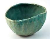Ceramic Bowl Rustic Decor Handmade Pottery Kitchen Decor Matte Mint Aqua Oval Tableware