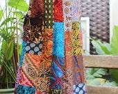 PATCHWORK Boho Gypsy A Shape Long Skirt - PKW1504-02