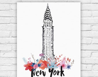 """Typography Poster Instant Download """"New York"""" Montreal Print Wall Decor Inspirational Poster Quote"""