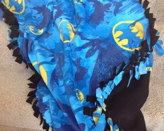 "Batman fleece tie blanket/throw 43""x55"""