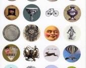 Victorian Sticker Template, Steampunk Stickers, Goth Stickers