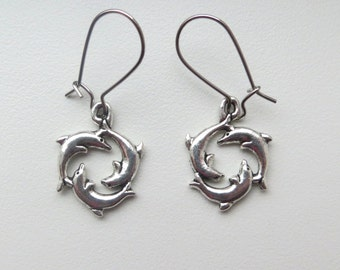 Dolphing Trio Earrings Dangling by Wave of Life