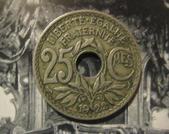 1922 France, 25 Centime Coin