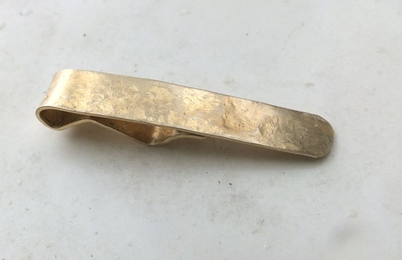 Bright Red Brass Tie Clip with Heavy texture