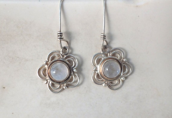 Moonstone Flower Earrings
