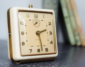 Tick Tock Vintage Clock Wind Up With Alarm