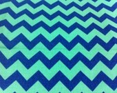 Barnegat Bay Chevron Stripes Blue Cotton Fabric/Sewing Supplies/Home Decor/ Quilting/Stripes Cotton Prints