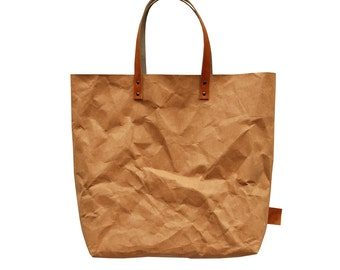Camel Brown washable Paper Tote Bag