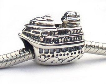 Cruise Ship Charm European Bead Sterling Silver