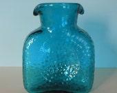 Vintage Blenko 384 Water Bottle Aqua/Sea Green