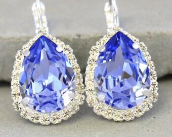 Purple Earrings,Swarovski Drop Earrings,Serenity Dangle Earring,Dangle Lavender Earrings,Bridal Earrings,Bridesmaids Earrings,Pave Earrings