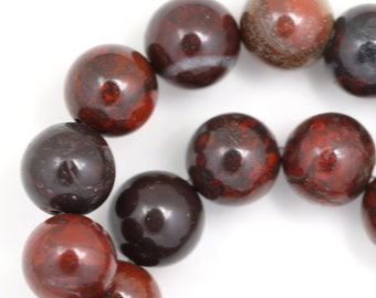 Brecciated Jasper Beads - 12mm Round