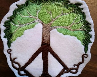 Peace sign Tree Patch,Mother earth