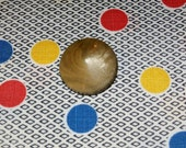 Wonderful Vintage Tan Celluloid Dome Button , 1 1/4 Inch Diameter