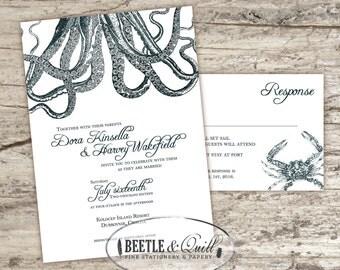 Seafarer Printable Wedding Invitation Set