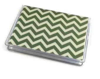 Card Case Mini Wallet Green Chevron