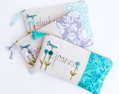 Bridesmaid Gift Set of 3 Personalized Bridesmaid Clutches, Perfect Gifts from the Bride to Her Wedding Party MADE TO ORDER