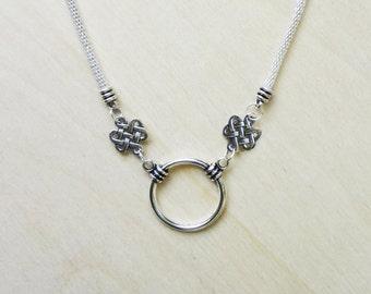 4 Celtic Beadable Necklaces for Pendant, Glasses, ID, Keys, etc