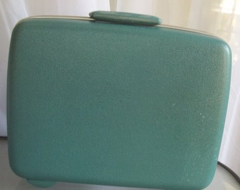 Samsonite Hard Shell Small Suitcase, Vintage Luggage, Travel Vacation Accessory, Baby Blue