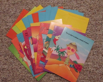Vintage Nickelodeon Ren and Stimpy Greeting Cards - 10 count