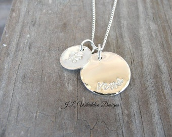Child Necklace - Personalized Necklace -  Sterling Silver Child Necklace - Hand Stamped Necklace - Child Birthday Gift
