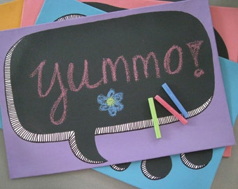 "Hand-Painted Placemats ""Thoughts and Words"""