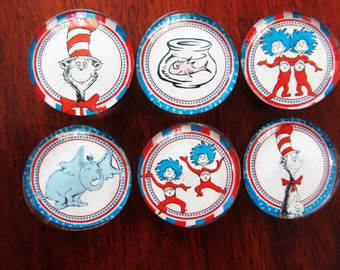 DR SEUSS CAT in the HaT MaGNETS Set of 6