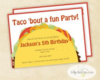Taco Party | Taco Tuesday | Cinco De Mayo | Fiesta | Taco Bar | Mexican FIesta | Instant Download | Editable Text PDF
