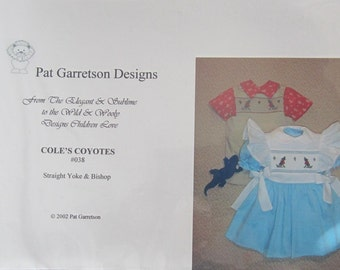 Smocking Plate - Cole's Coyotes #038 by Pat Garretson Designs (book 5)