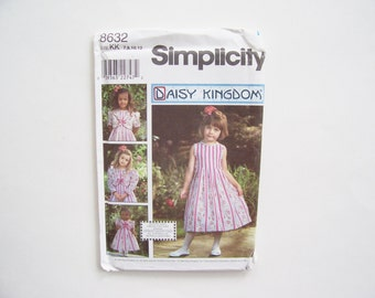 "Simplicity 8632: Uncut Child's and Girls' Dress and Jacket and Doll Clothes for 18"" Doll Sizes 7,8,10,12"