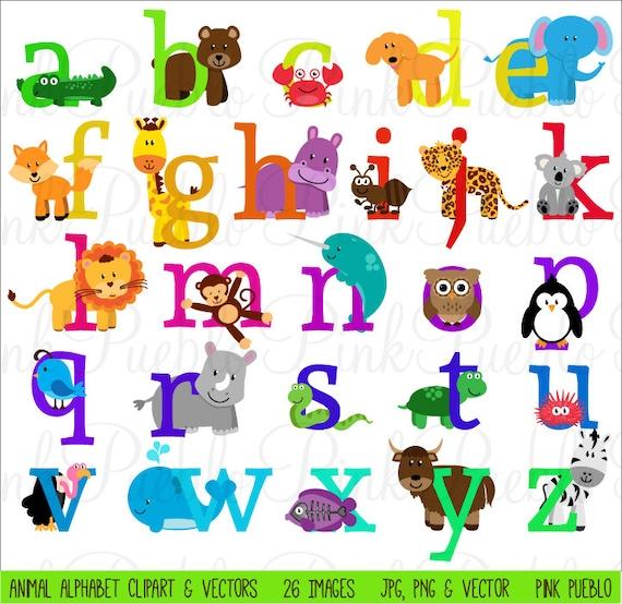 The Art Of Animal Character Design Pdf Free Download : Animal alphabet font with safari jungle zoo animals