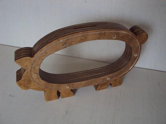 Wood piggy bank handmade decorative wood piggy by for Handmade coin bank